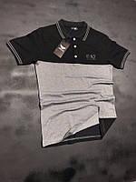 Мужская футболка поло Armani Качество супер Модель 2018 Турция sml xl xxl Два цвета