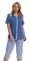 Пижама DOBRANOCKA 9460, размеры  XXL, 3XL женские пижамы, пижама, 3XL; XXL, 3XL голубой, черничный; голубой; светло-розовый