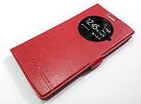 Чехол книжка с окошком momax для LG G4 красный, фото 1
