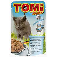 Влажный корм TOMi  junior  (Пауч) для котят птица 0.1 кг.