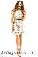 Принтованное летнее платье цветы ассорти