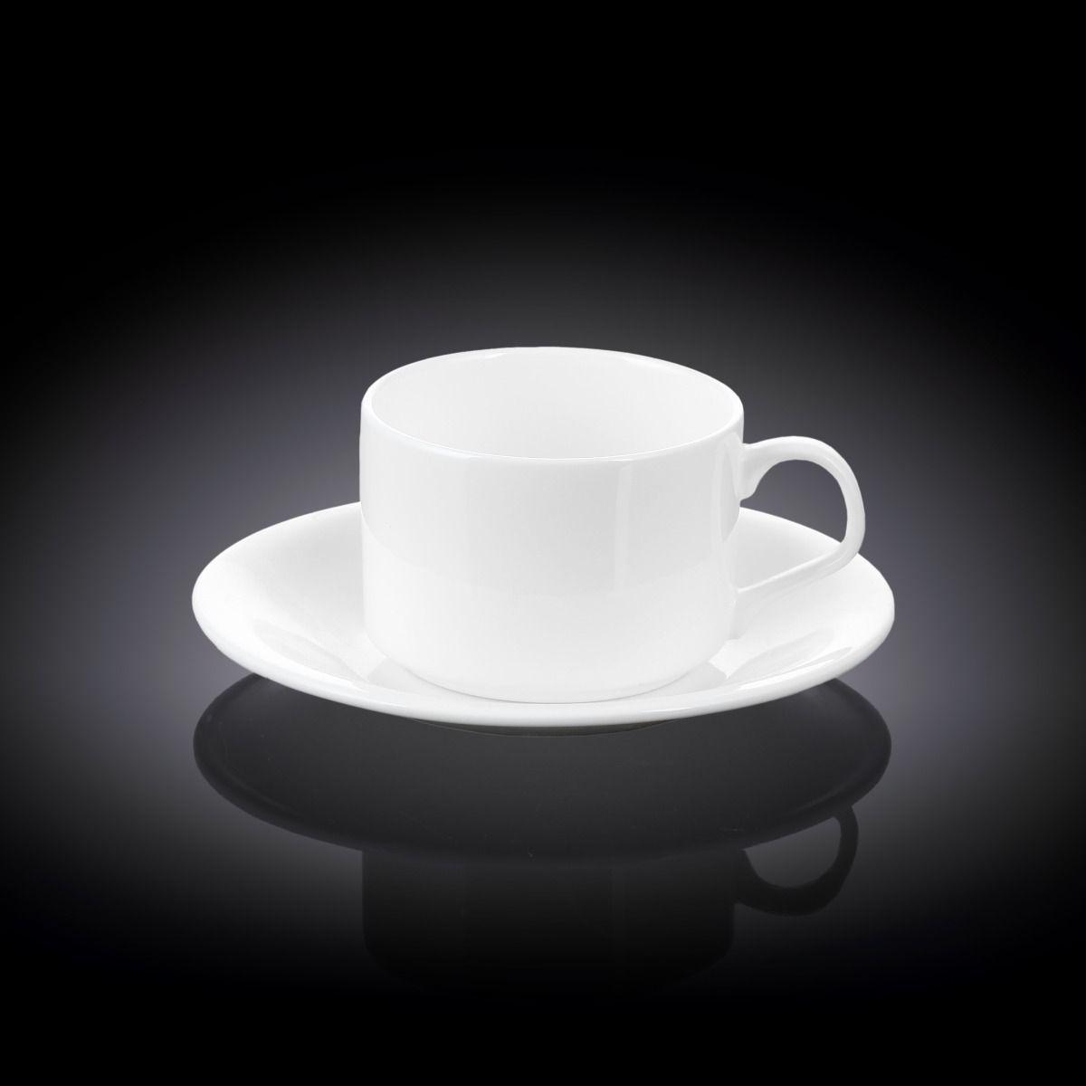 Чашка чайная Wilmax 160 мл с блюдцем