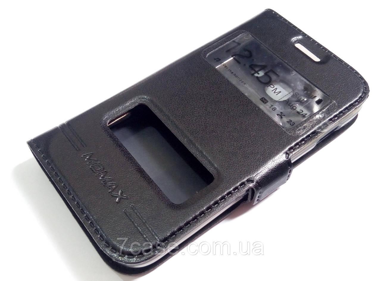 Чохол книжка з віконцями momax для Samsung Galaxy Ace 3 s7272 / s7270 / s7275 чорний