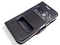 Чехол книжка с окошками momax для Samsung Galaxy Ace 3 s7272 / s7270 / s7275 черный, фото 1