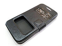 Чехол книжка с окошками momax для HTC Desire 300 черный, фото 1