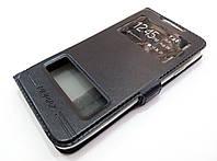 Чехол книжка с окошками momax для HTC Desire 516 dual sim черный, фото 1