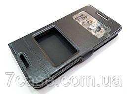 Чехол книжка с окошками momax для HTC Desire 610 черный