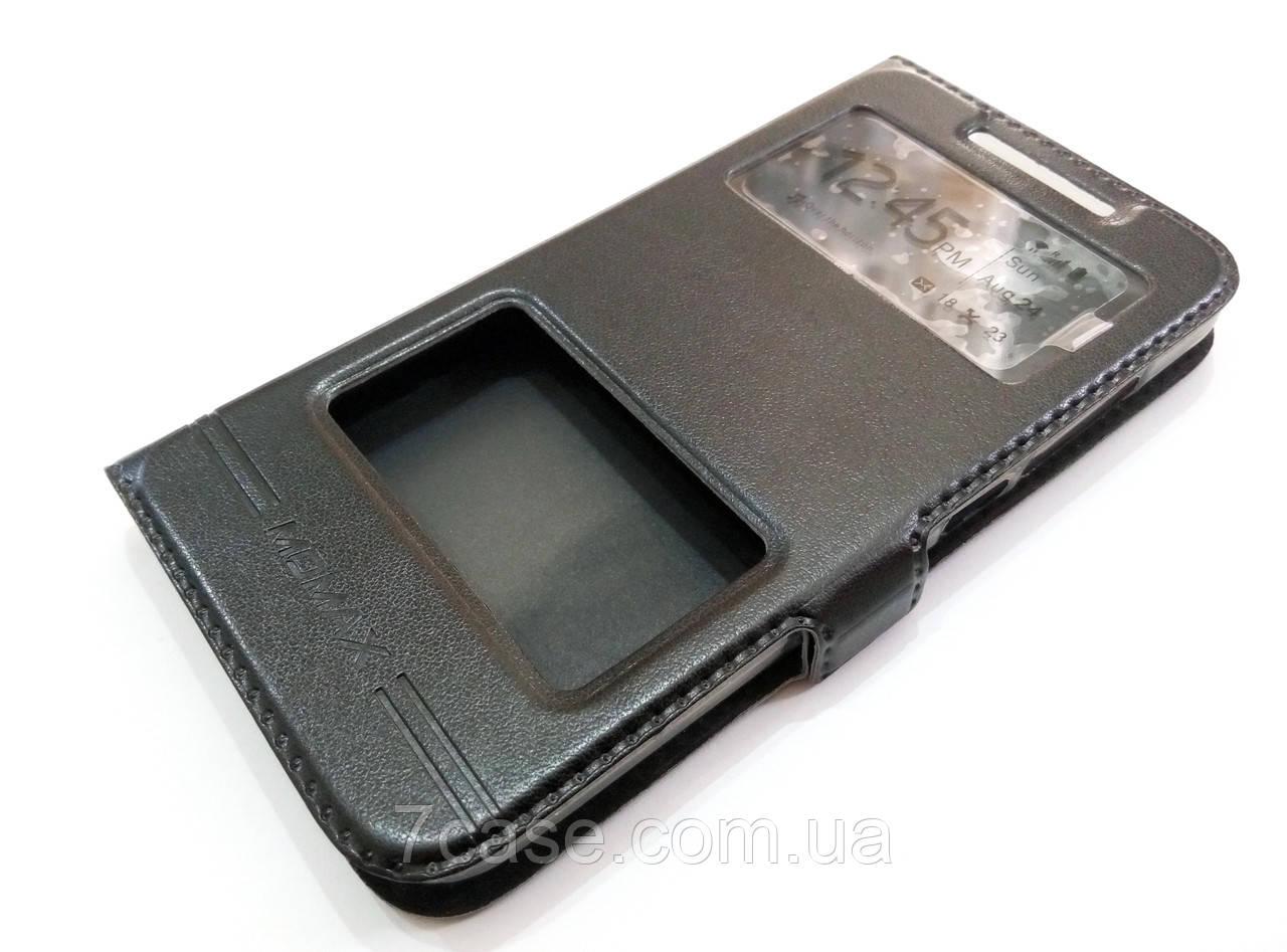 Чехол книжка с окошками momax для HTC Desire 616 dual sim черный