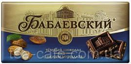Шоколад Бабаєвський з цілим мигдалем темний 200 гр.