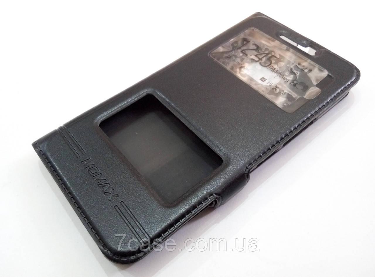 Чехол книжка с окошками momax для HTC 10 черный