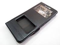 Чехол книжка с окошками momax для HTC 10 черный, фото 1