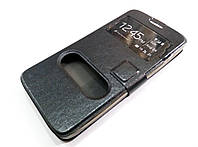Чехол книжка с окошками momax для Huawei Ascend G630 черный, фото 1