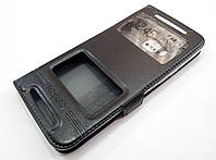 Чехол книжка с окошками momax для HTC One M9 черный, фото 1