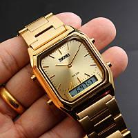 Часы Skmei 1220 Механизм (Miyota, Япония) золото, водозащита, ударопрочный