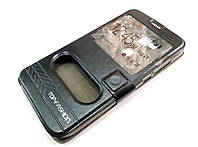 Чехол книжка с окошками momax для Huawei G8 черный, фото 1