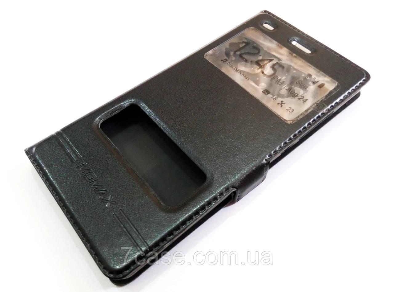 Чехол книжка с окошками momax для Huawei P8 Lite черный
