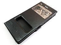 Чехол книжка с окошками momax для Huawei P8 Lite черный, фото 1