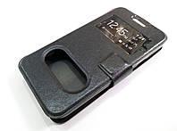 Чехол книжка с окошками momax для Huawei Ascend Y330 черный, фото 1