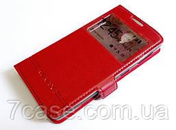 Чехол книжка с окошками momax для Lenovo A1000 / A1000m Vibe A красный