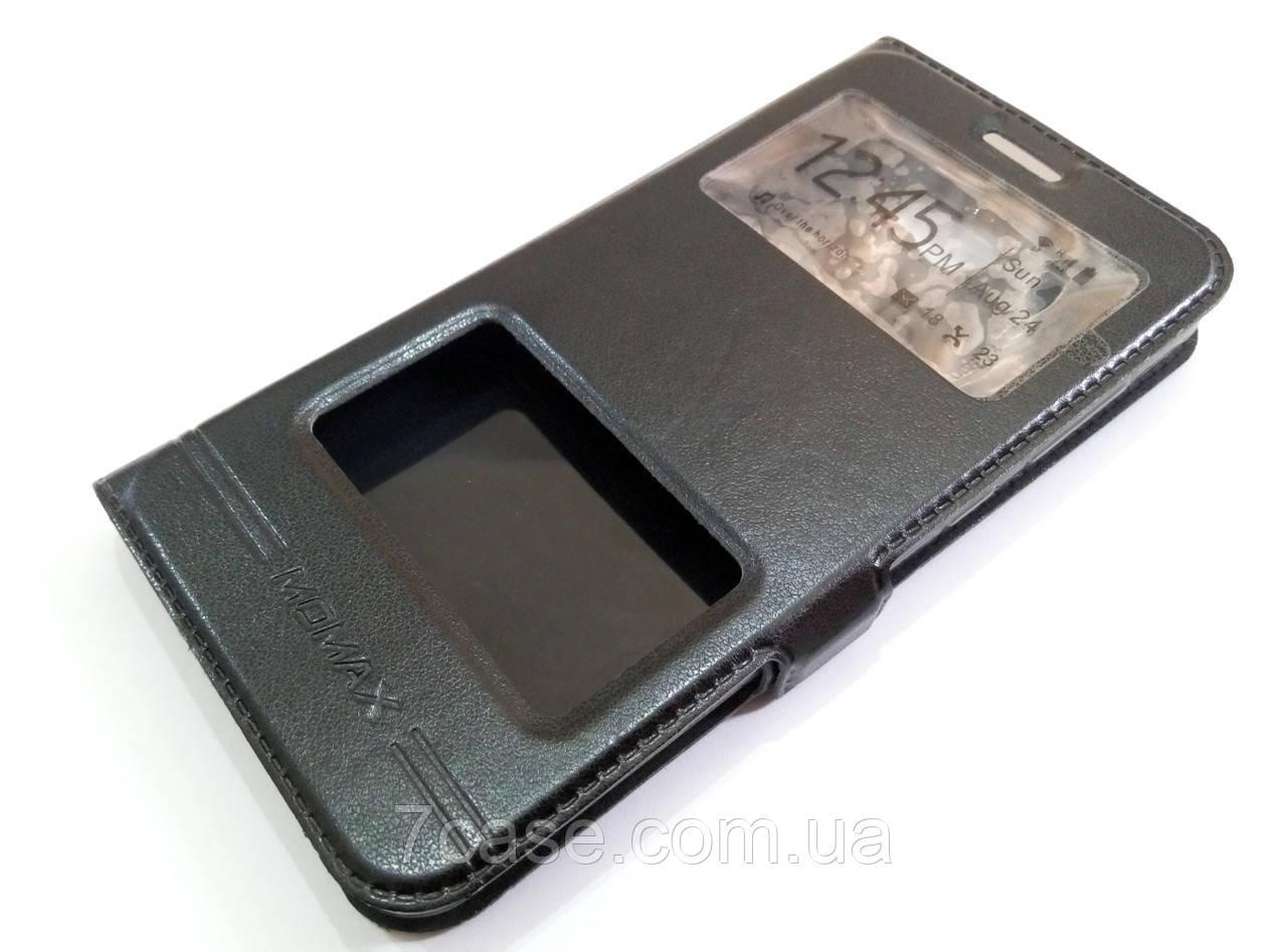 Чохол книжка з віконцями momax для Huawei Y5 II / Y5-2 / Y5 2 (кун-u29) чорний