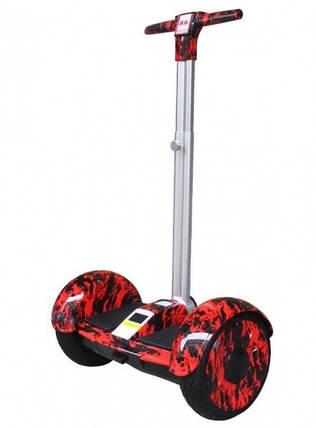 """Гироскутер, Smart Balance 10.5"""" огонь красный с ручкой самобаланс, фото 2"""