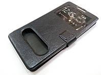 Чехол книжка с окошками momax для Lenovo A880 / A889 черный, фото 1