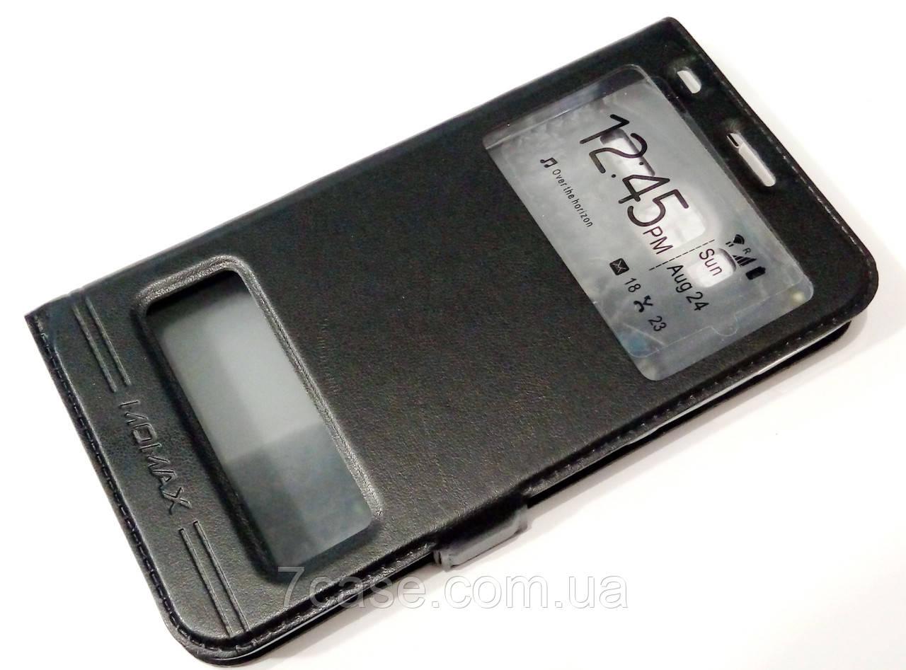 Чехол книжка с окошками momax для Lenovo A916 черный