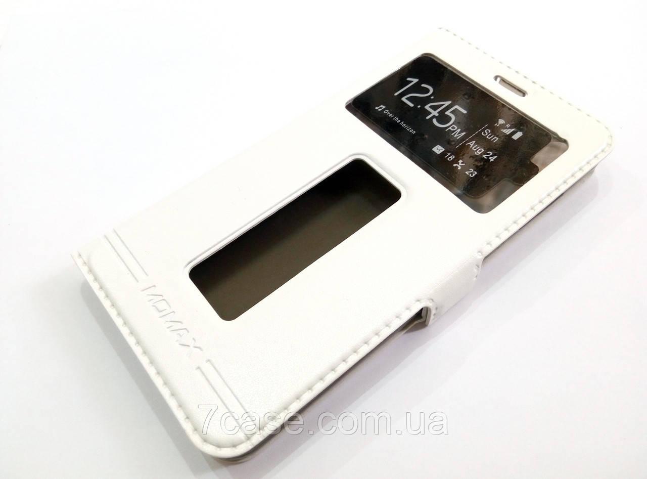 Чехол книжка с окошками momax для Lenovo S850 белый