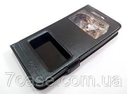 Чехол книжка с окошками momax для Lenovo Vibe C2 k10a40 черный