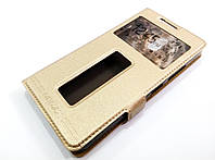 Чехол книжка с окошками momax для Lenovo Vibe P1m золотой, фото 1