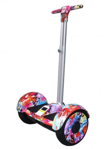 Гироскутер цветочный с ручкой Smart Balance A8 колеса 10.5