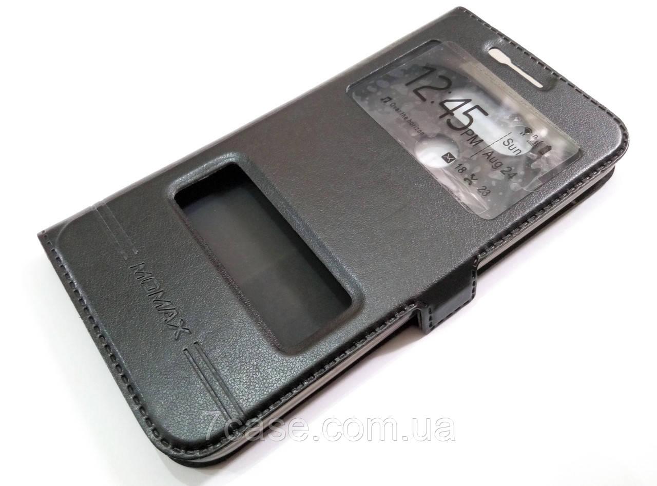Чехол книжка с окошками momax для LG G5 черный