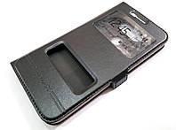 Чехол книжка с окошками momax для LG G5 черный, фото 1