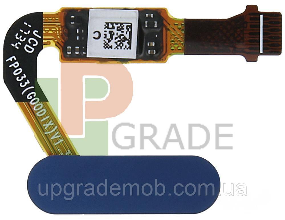 Шлейф Huawei Mate 10 (ALP-L09/ALP-L29)/Honor V10/P20/P20 Pro/Nova 2s с сканером отпечатка пальца синего цвета