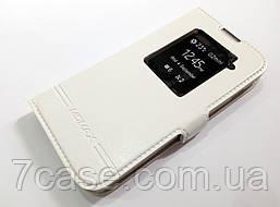 Чехол книжка с окошком momax для LG L90 D410 / D405 белый