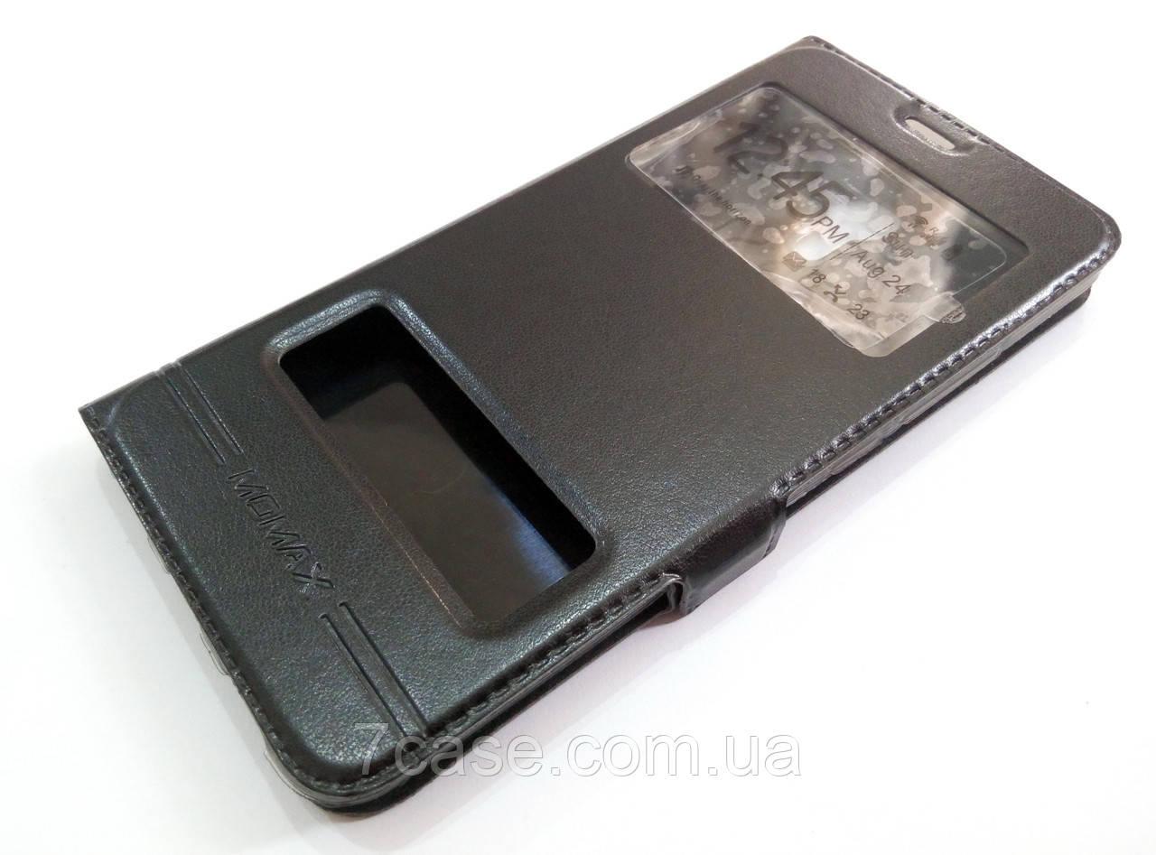 Чехол книжка с окошками momax для Meizu M3 Note черный