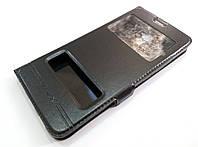 Чехол книжка с окошками momax для Meizu M3 Note черный, фото 1