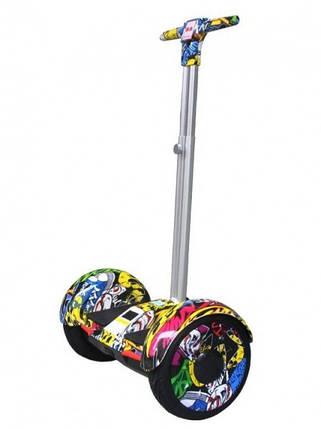 """Гироцикл Ховерборд ХИП-ХОП с ручкой Смартбаланс A8 колеса 10.5"""" самобаланс, фото 2"""