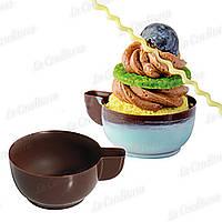 Поликарбонатная форма для шоколадных конфет ЧАШКА С РУЧКОЙ MARTELLATO 20GU502