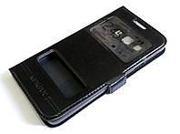 Чехол книжка с окошками momax для Samsung Galaxy A3 A300 (2015) черный