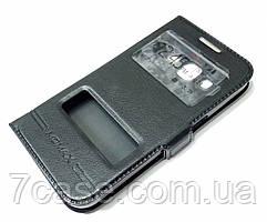 Чехол книжка с окошками momax для Samsung Galaxy Core Prime g360h черный