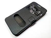 Чохол книжка з віконцями для Samsung Galaxy Grand Max g720 чорний, фото 1