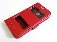 Чехол книжка с окошками momax для Samsung Galaxy J1 mini j105 красный, фото 1