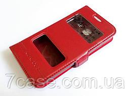 Чехол книжка с окошками momax для Samsung Galaxy J1 mini j105 красный