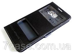 Чехол книжка с окошками momax для Samsung Galaxy Note 5 n920 черный