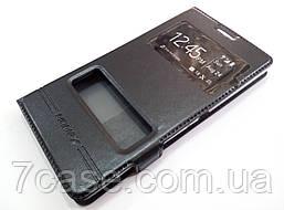 Чехол книжка с окошками momax для Sony Xperia C4 dual e5303 / e5333 черный