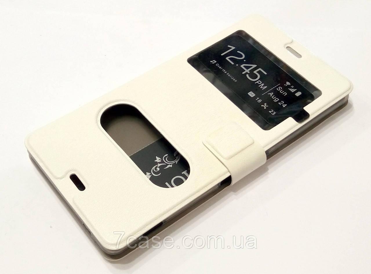 Чехол книжка с окошками momax для Sony Xperia Z3 d6603 / d6633 белый