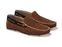 Мокасины Etor 11341-6534-9999 45 коричневые, фото 1