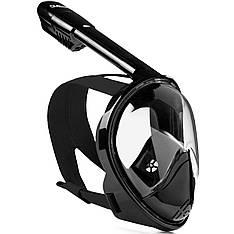 Полнолицевая панорамная маска DIVELUX для дайвинга и снорклинга S/M Черный (SUN0708)
