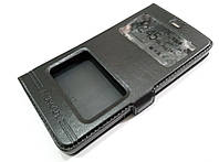 Чехол книжка с окошками momax для Xiaomi Mi 4i / Mi 4c черный, фото 1